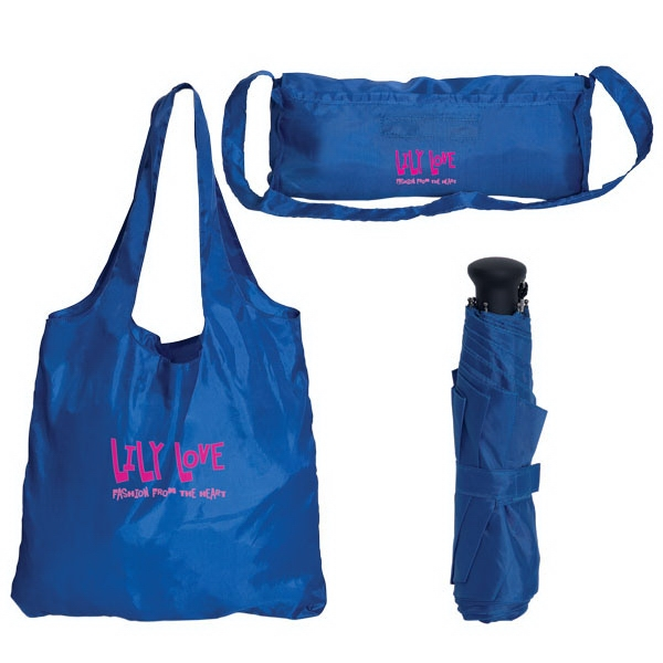 Folding Tote Bag With Umbrella Photo