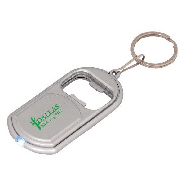 "Led Keychain With Bottle Opener, 1.25"" W X 2.75"" W X 0.25"" Photo"