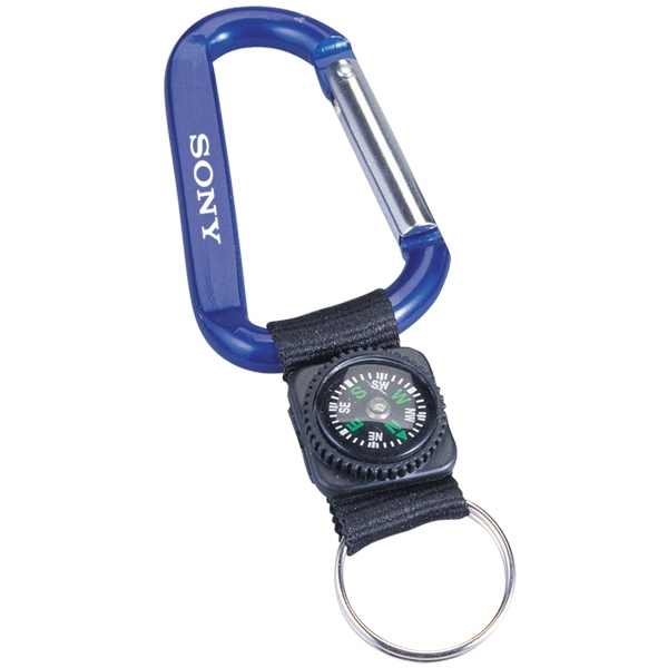 Carabiner With Decorative Compass, 8mm Photo