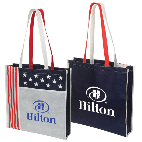 Non Woven Usa Tote Bag Made Of 90 Gram Polypropylene Photo