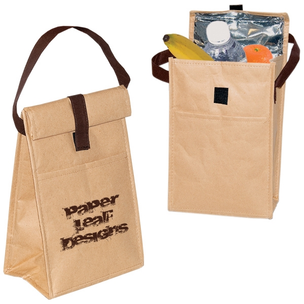 Kraft Paper Lunch Bag With Front Slash Pocket Photo