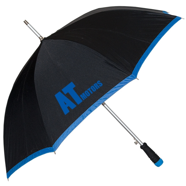 "Executive - 190t Polyester Umbrella With Fiberglass Ribs, 23"" Rib Length 46"" Arc Photo"