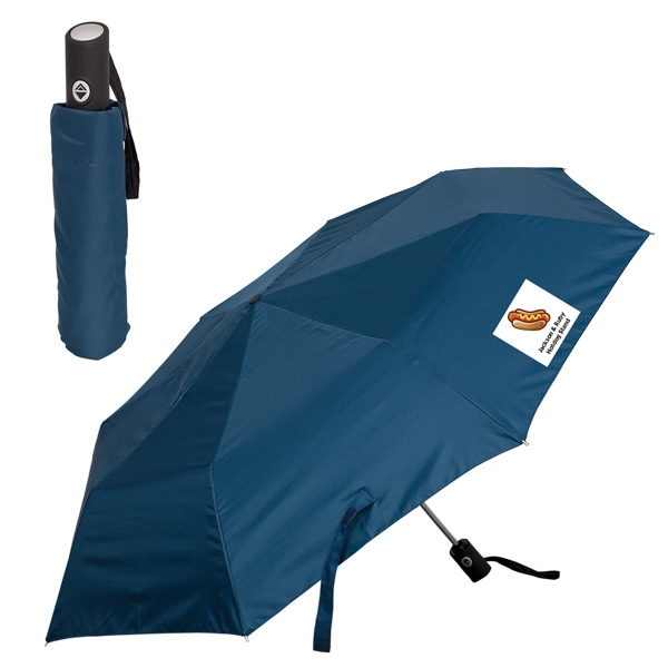 "Windproof Folding Umbrella, 21"" Rib Length, 42"" Arc, Folds To 11"" When Closed Photo"