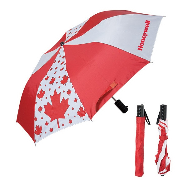 190t Polyester Canada Umbrella With Red Sleeve Photo
