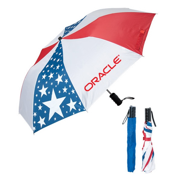 190t Polyester Usa Umbrella With Navy Blue Sleeve Photo