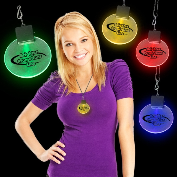 "2 1/2"" Light-up Led Glow Medallion Photo"