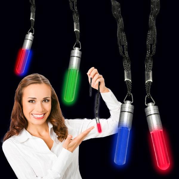 """2"""" LED Light Up Glow Pendant with Lanyard"""