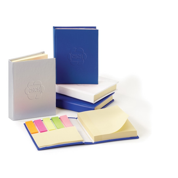 Easi-notes (r) - Non Refillable Note Box With Adhesive Pads And Multicolored Paper Flag Strip Pads Photo