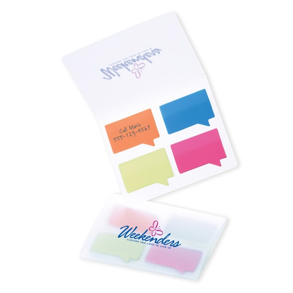 Easi-notes (r) - Quote Shaped Colored Adhesive Film Flag Set Photo