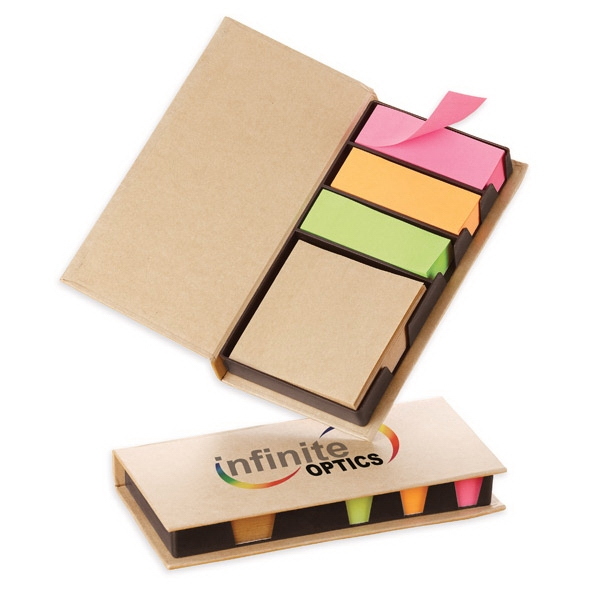 Easi-notes (r) - Cardboard Note Box With Kraft Paper Adhesive Memo Pad Photo