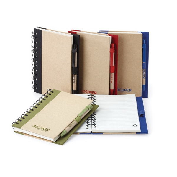 Tristan - Combo Ballpoint Paper Pen And Spiral Bound Non-refillable Memo Book Photo