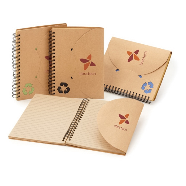 Travis - Non-refillable Notebook With Die-cut Symbol On Natural Colored Cover Photo