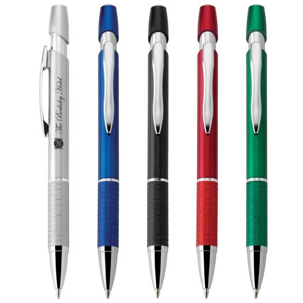 Siren - Push-action Ballpoint Plastic Pen With Retro Metallic Barrel And Comfort Grip Photo
