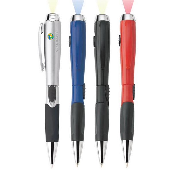Blossom - Ballpoint Plastic Pen/light With Satin Or Solid Colored Finish, Slide-action & Grip Photo
