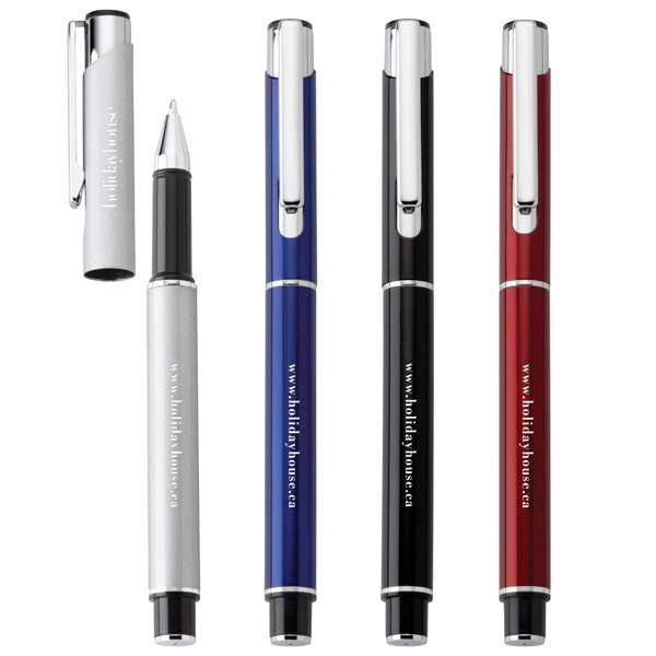 Sutton - Ballpoint Aluminum Pen With Metallic Barrel And Matching Pull-off Cap Photo