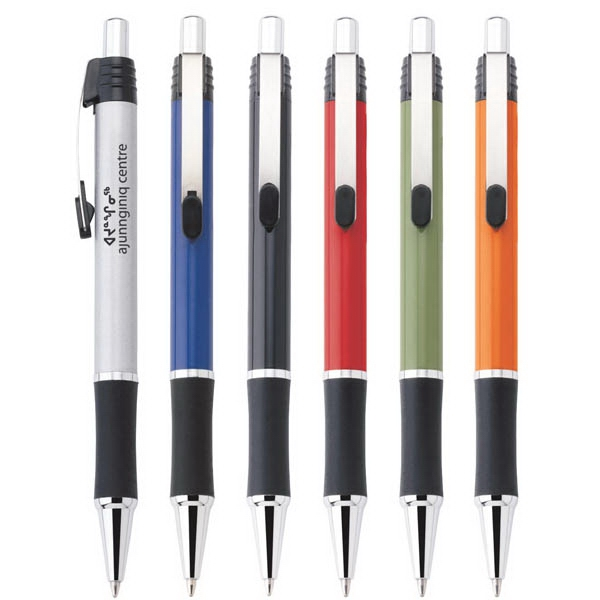 Jazz - Push-action Ballpoint Metal Pen With Satin Or Solid Colored Finish, Grip & Accents Photo