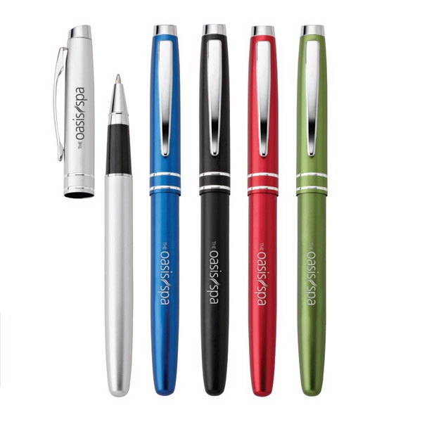 Bosa - Aluminum Rollerball Pen With Retro Metallic Finish & Chrome Trim Photo