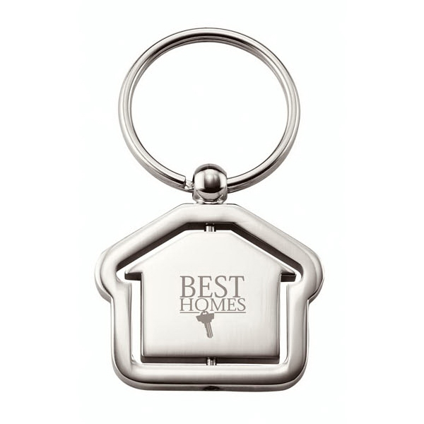 Metal Key Ring With Split Ring And Rotating Centerpiece Photo