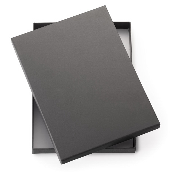 "Two Piece Black Gift Box That Fits 8"" Journals Photo"