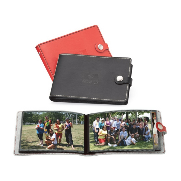Primetime - Leather Photo Album With Decorative Stitching And Snap Closure Photo