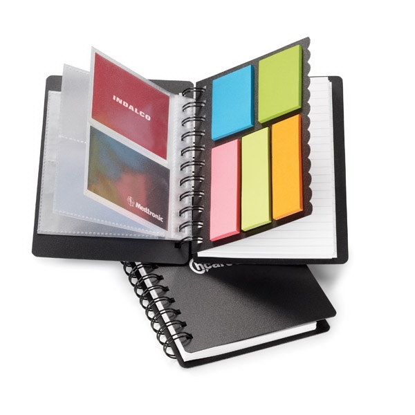 Easi-notes (r) - 3-in-1 Multi-use Spiral Polypropylene Notebook With 10 Card Holder Slots Photo