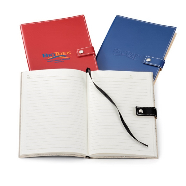 Bradford - Vinyl Non-refillable Journal With 160 Ivory Lined Pages Photo