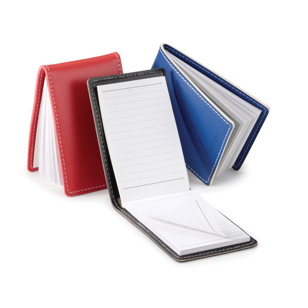 Bradford - Vinyl Refillable Jotter With White Stitching Photo