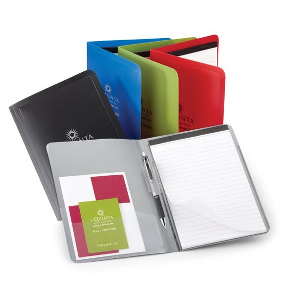 Colorplay - Thin Polypropylene Padfolio With With Clear Interior Side Pocket Photo