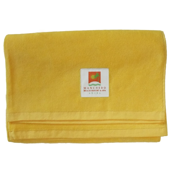 Tag Trends (tm) - Up To 8 Color Label Sewn To Towel. - Premium, Hemmed, 100% Cotton Terry Velour Beach Towel Photo