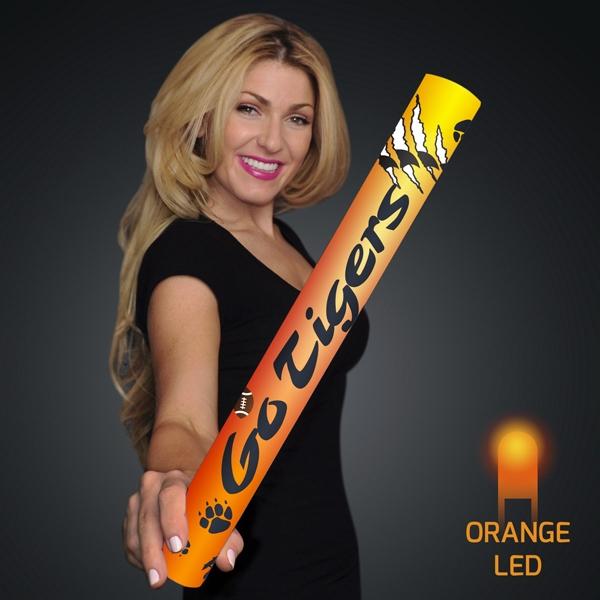 "Fully Wrapped 16"" Orange LED Foam Cheer Stick"