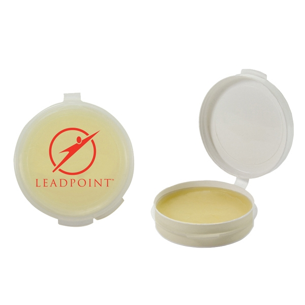 Lip Balm Flavor Mania - Clear - Lip Balm In Round Case. Lip Balm/lip Moisturizer/lip Gloss/chapstick In Case Photo