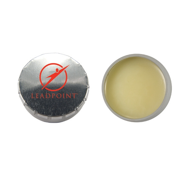 Lip Balm Flavor Mania - Lip Balm Snap Top Tin - Silver. Snap Top Tin With Lip Balm/lip Gloss/moisturizer Photo