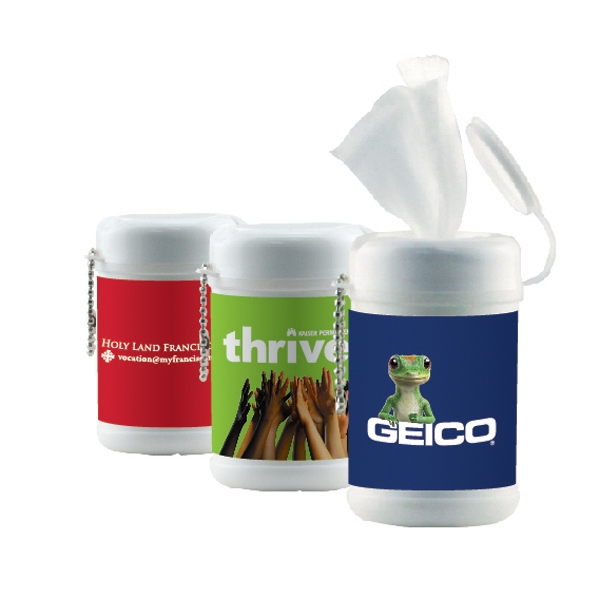 Hand Sanitizer Heros - 30-pack Sanitizer Wipes In A Cannister. Antibacterial/anti-germ Sanitizer Wipes Photo