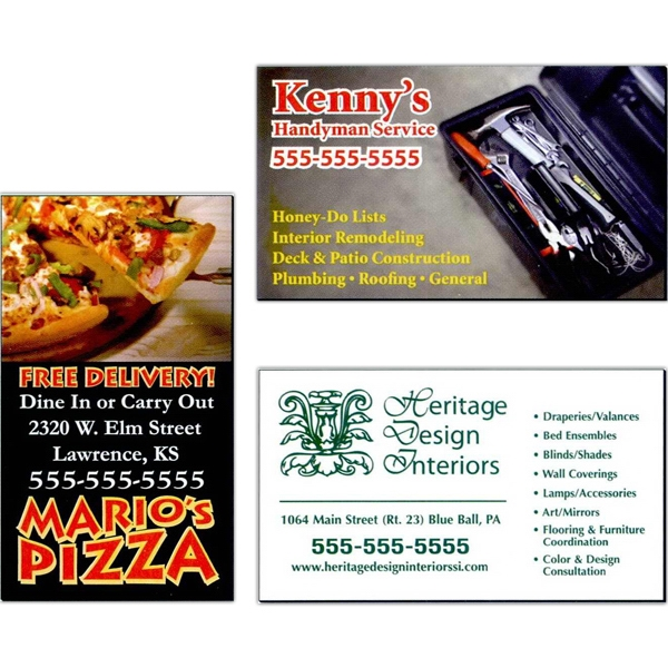 "Approximately .019"" Thick Full-color Business Card Magnet With Square Corners Photo"