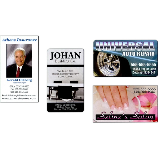 "Approximately .019"" Thick Full-color Business Card Magnet With Round Corners Photo"