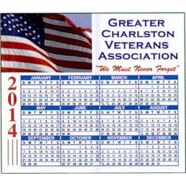 ".019"" - 4"" X 3 1/2"" Full-color Calendar Magnet With Round Corners Photo"