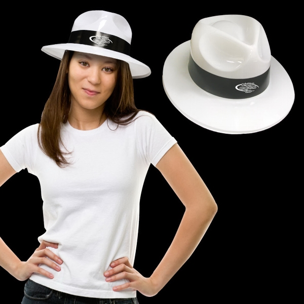 White Plastic Fedora Hat Photo