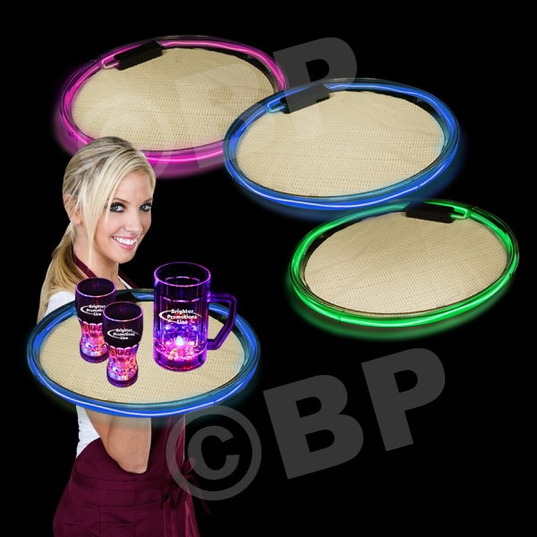 """14"""" Light Up LED Serving Tray, Blank"""