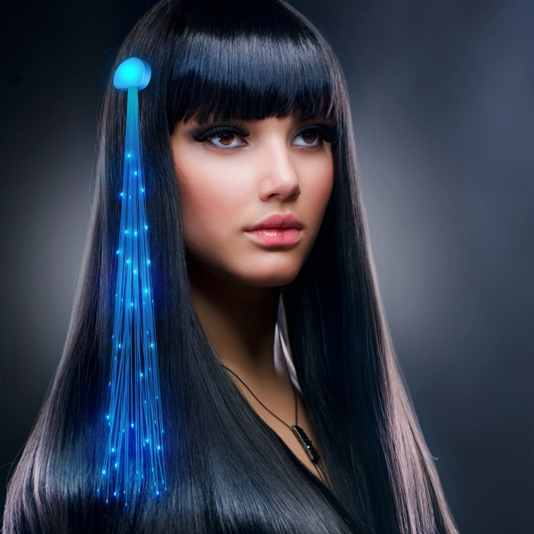 Blue Light Hair Sparkle Clip Extensions