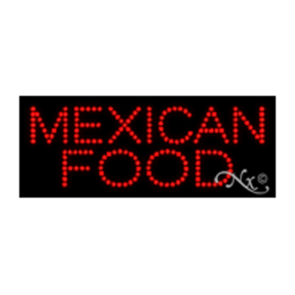 Economy LED Sign - Mexican Food