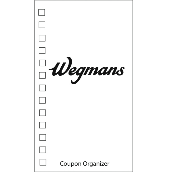 Coupon Organizer With A One Color Imprint On The Cover Photo