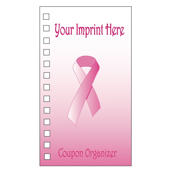 Coupon Organizer With A Four Color Process Breast Cancer Ribbon Design On The Cover Photo