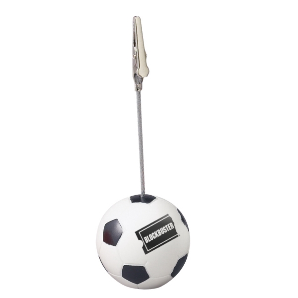 Document Holder With Soccer Ball-shaped Base And Alligator Clip Photo
