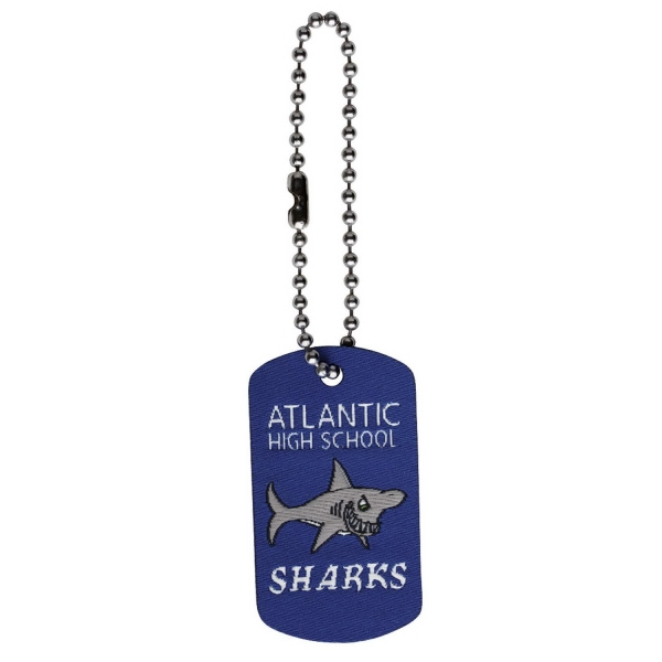"Elite - Dog Tag With Ball Chain, Up To 1"" X 1.75"" With 4"" Chain Photo"