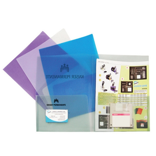 Twin Pocket Presentation Folder With Business Card Holder And Diskette Holder Photo