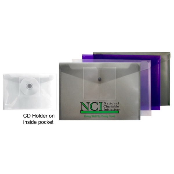 Snap Closure Poly Envelope With Cd Holder Photo
