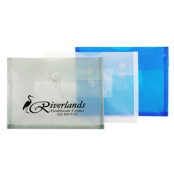 Letter Size Horizontal Poly Envelope With String Closure And Cd Holder Photo