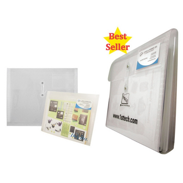 Horizontal Poly Envelope With String Closure, Business Card Holder And Divider Photo