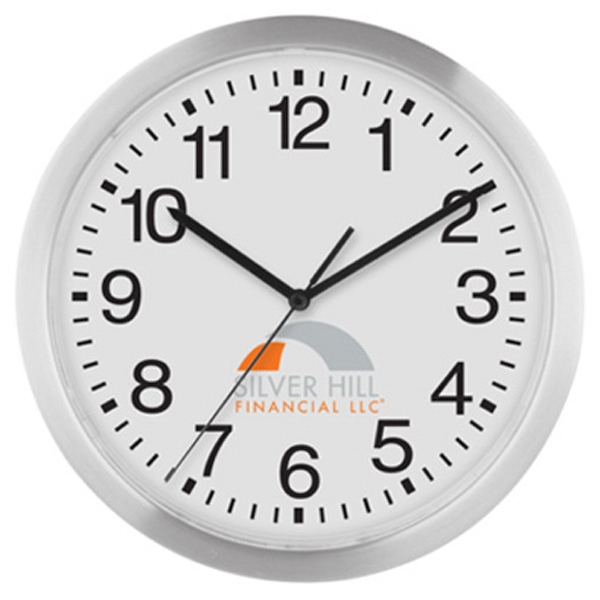 "12"" Metal Wall Clock Photo"