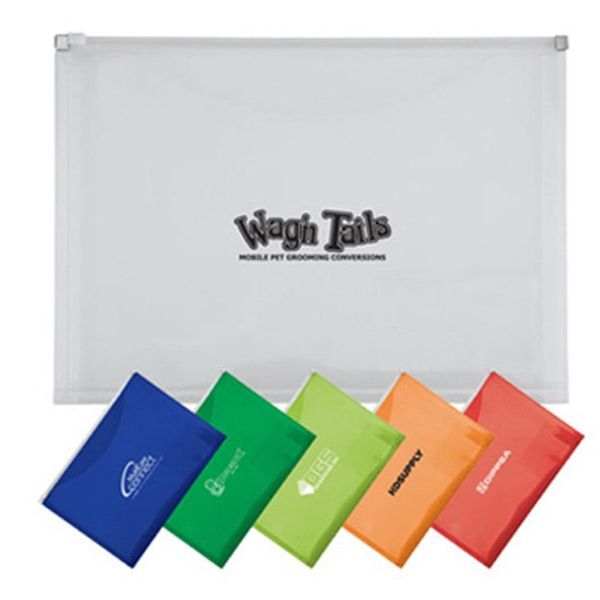 Slide Zip Pouch With Business Card Holder & Extra Pocket Photo